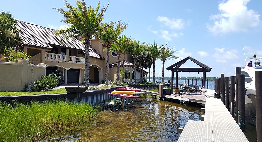 The boat dock at Bay Point Resort in Panama City Beach FL.